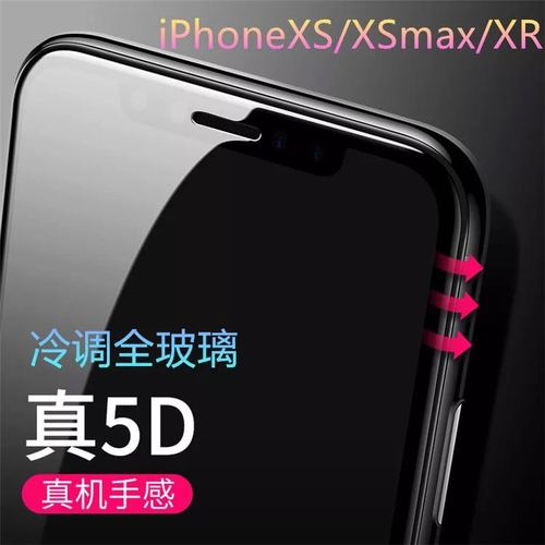3D tempered glass screen protector for iPhone XR
