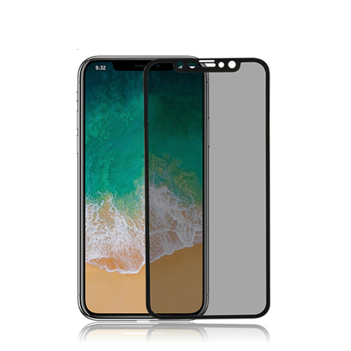 for iPhone X 3D Privacy tempered glass screen protector