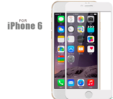 White Frame Tempered Glass Screen Protector for iPhone 6